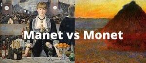 Manet vs Monet