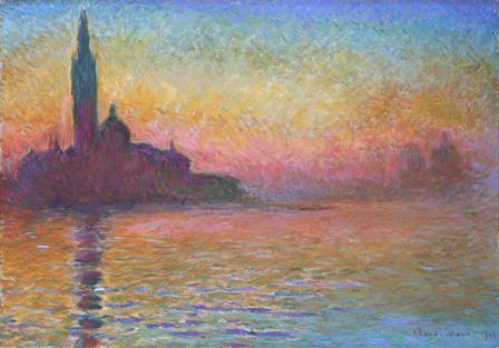 San Giorgio Maggiore at Dusk, Claude Monet