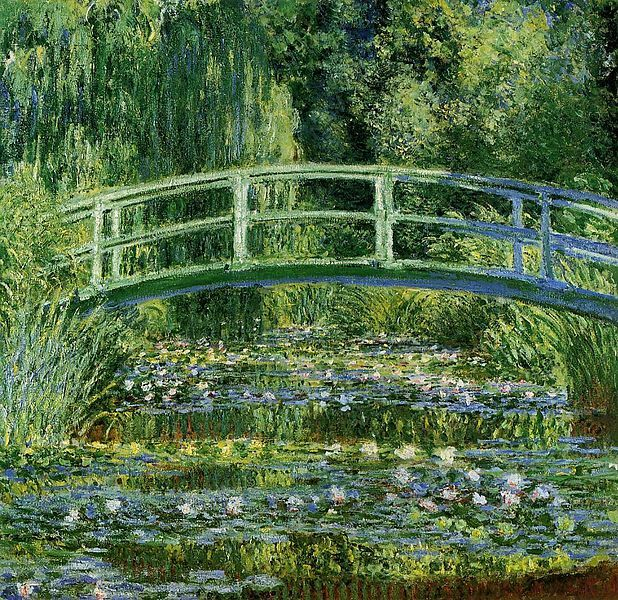 The Water Lilies and Japanese Bridge was painted by Claude Monet sometime between between 1897 and 1899.
