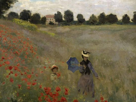 The Poppy Field, Claude Monet