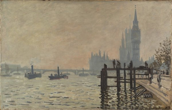 Thames Below Westminster, Claude Monet