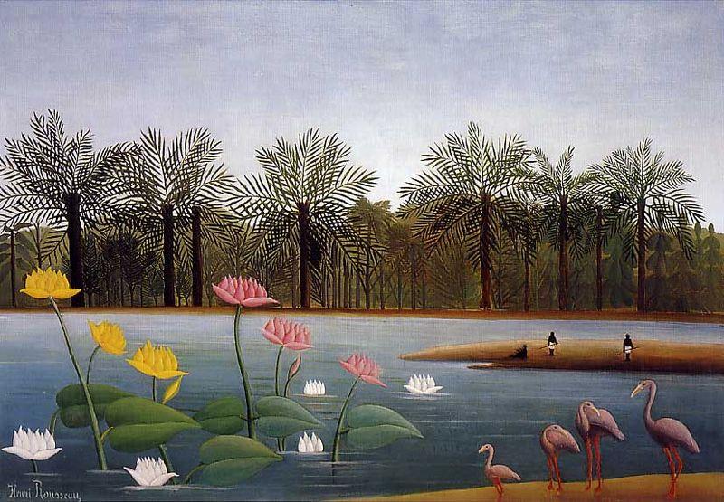 The Flamingos – Henri Rousseau
