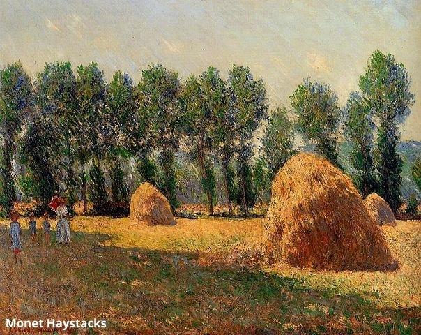 Haystacks at Giverny, Claude Monet