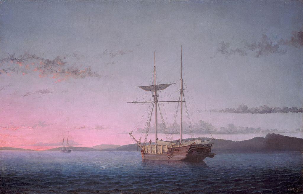 Lumber Schooners at Evening on Penobscot Bay - Fitz Henry Lane