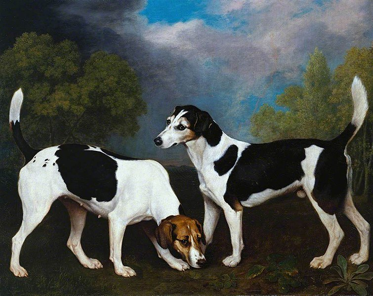 A Couple of Foxhounds - George Stubbs