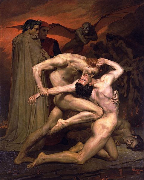 Dante And Virgil  - William-Adolphe Bouguereau