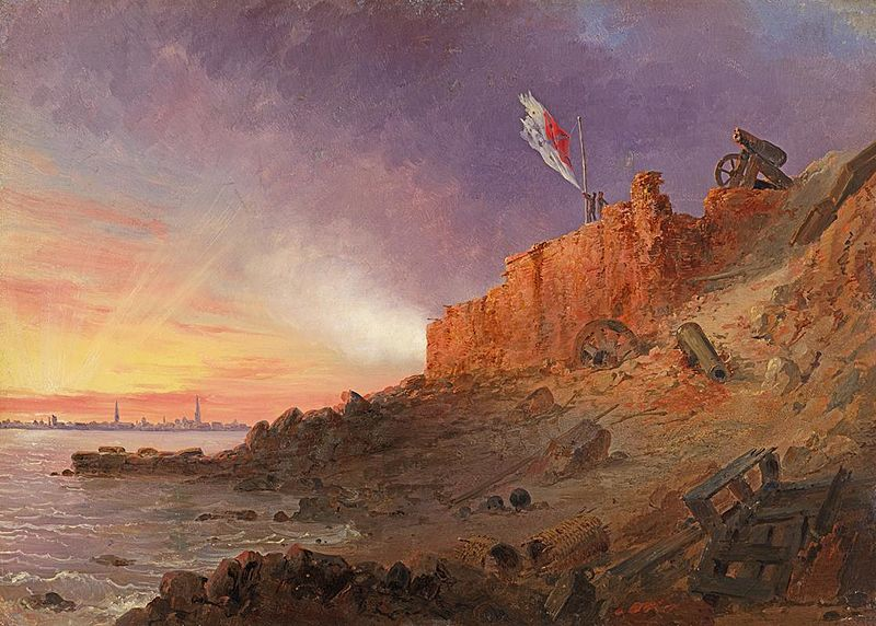 Evening Gun, Fort Sumter - Conrad Wise Chapman & John Gadsby Chapman