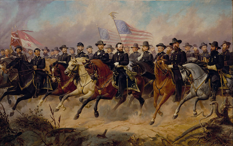 Grant and His Generals - Ole Peter Hansen Balling