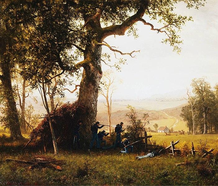Guerrilla Warfare - Alfred Bierstadt