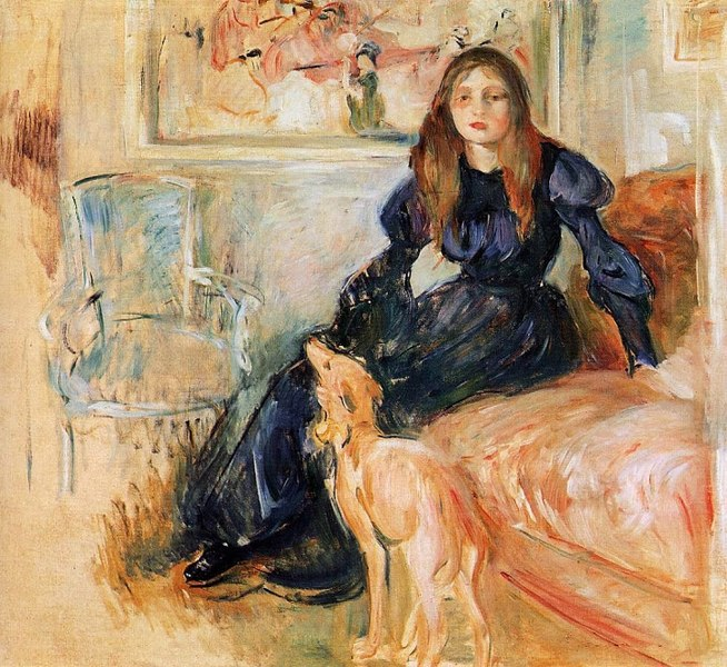 Julie Manet and her Greyhound Laertes - Berthe Morisot