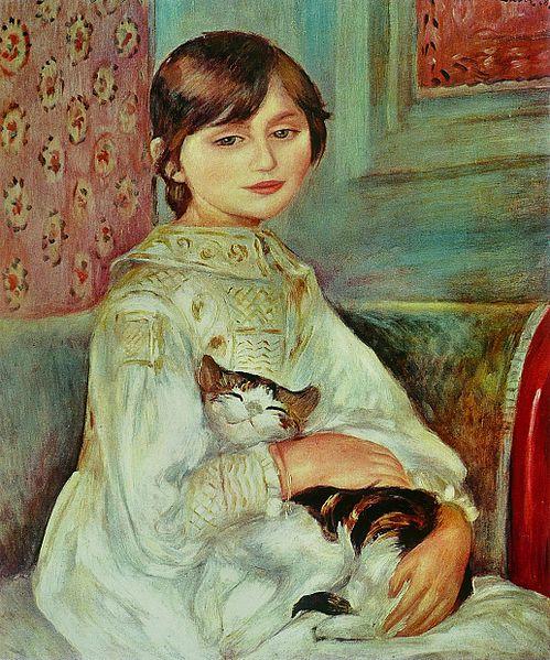 Julie Manet(Child with Cat) - Pierre-Auguste Renoir