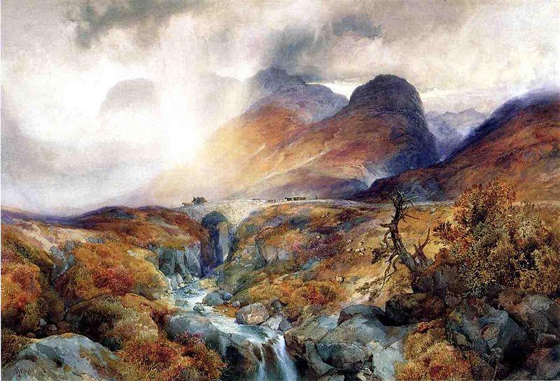 Pass at Glencoe Scotland - Thomas Moran