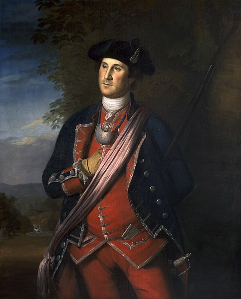 Portrait of George Washington Wearing his Colonel's Uniform of the Virginia Regiment - Charles Willson Peale