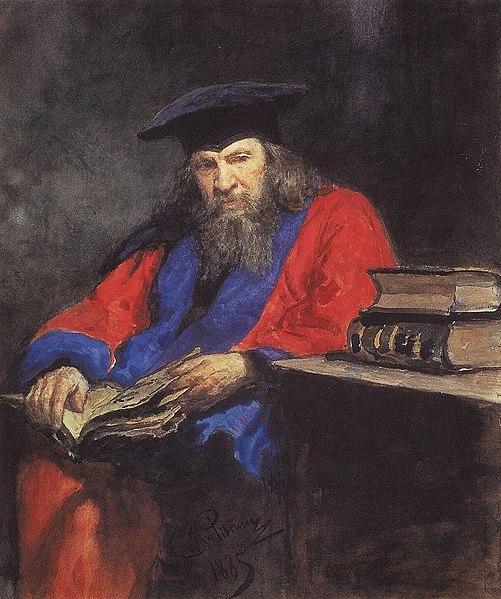 Portrait of Mendeleev - Ilya Repin