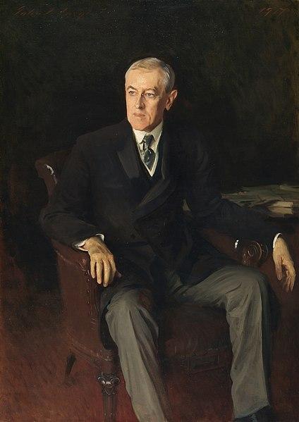 Portrait of Woodrow Wilson - John Singer Sargent