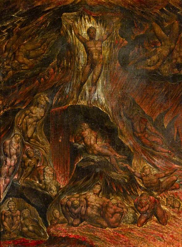 Satan Calling Up His Legions - William Blake