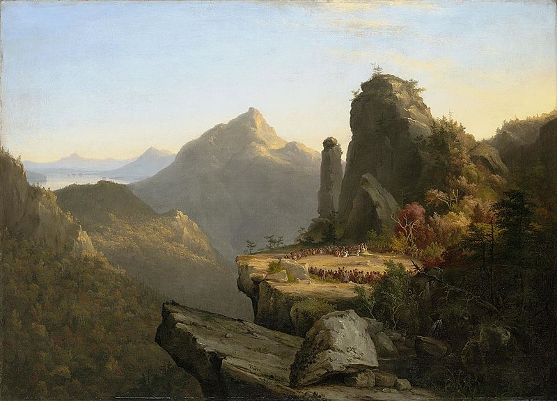 Scene from 'The Last of the Mohicans': Cora Kneeling at the Feet of Tanemund – Thomas Cole
