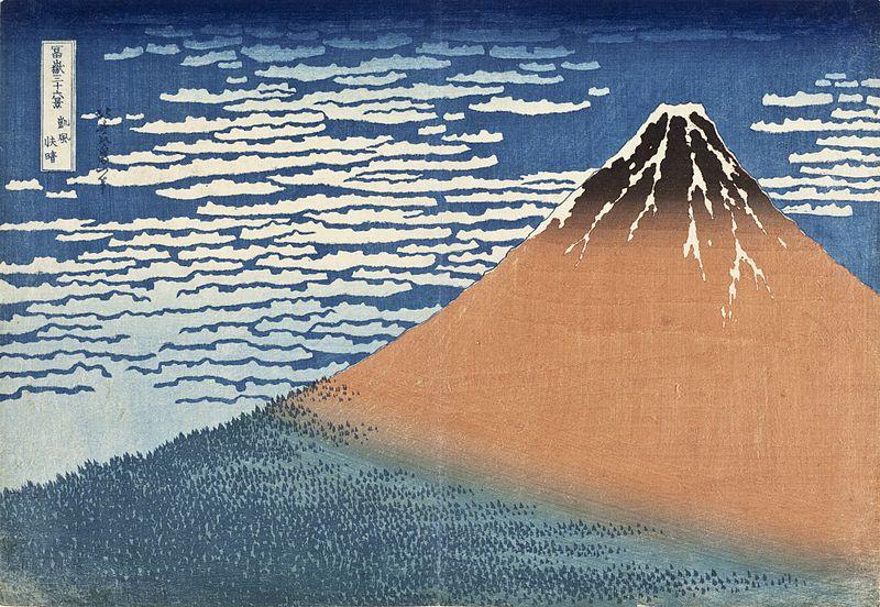 South Wind, Clear Dawn(Red Fuji) - Katsushika Hokusai