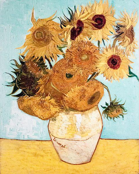 Still Life Vase with Twelve Sunflowers - Vincent van Gogh