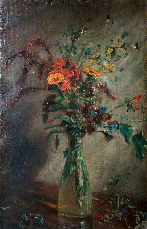 Study of Flowers in a Glass Vase, 1814 - John Constable