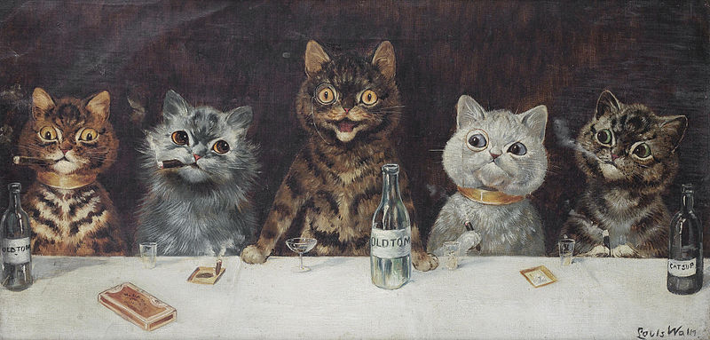 The Bachelor Party – Louis Wain