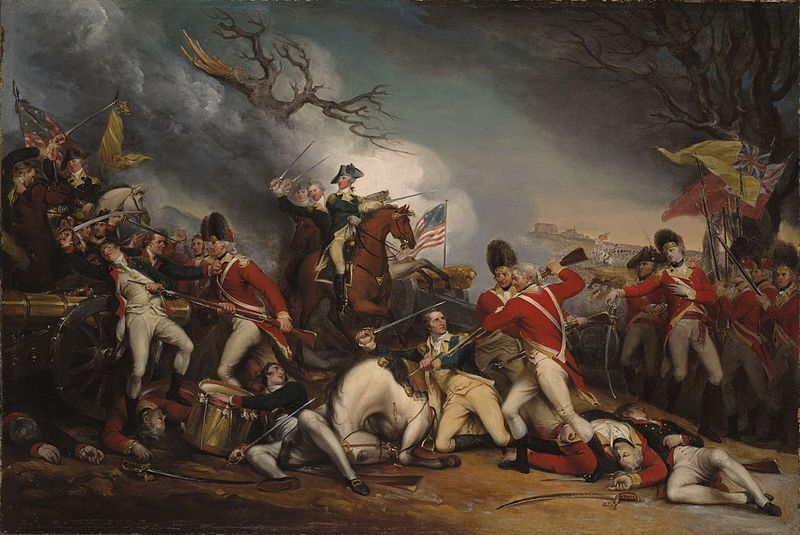 The Death of General Mercer at the Battle of Princeton - John Trumbull