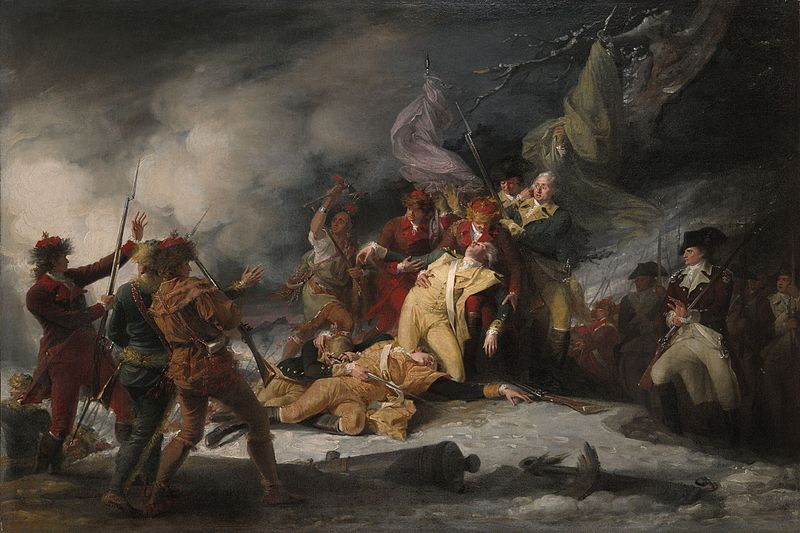The Death of General Montgomery in the Attack on Quebec - John Trumbull
