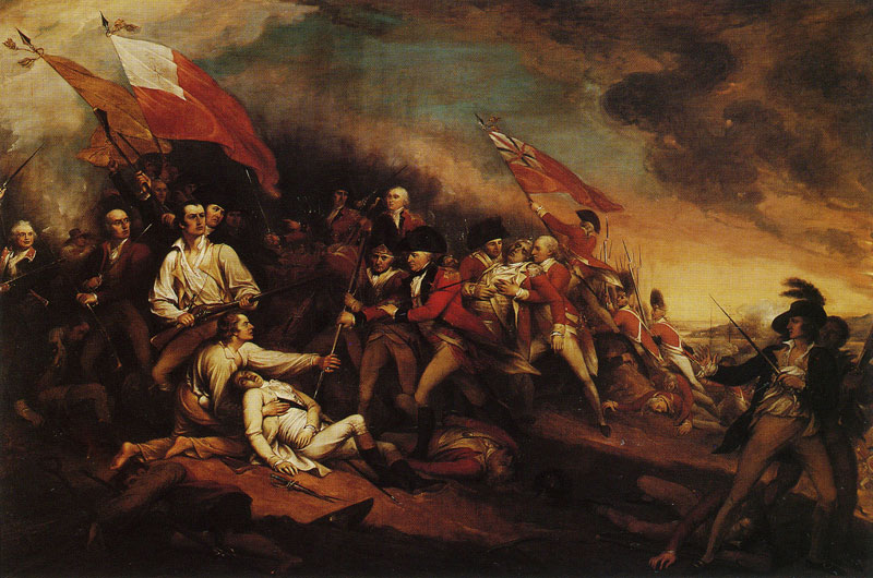 The Death of General Warren at the Battle of Bunkers Hill - John Trumbull