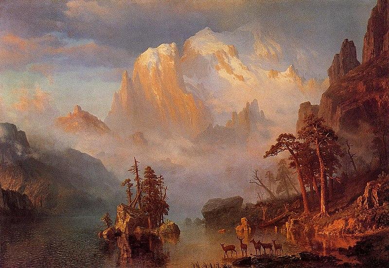 The Rocky Mountains - Albert Bierstadt