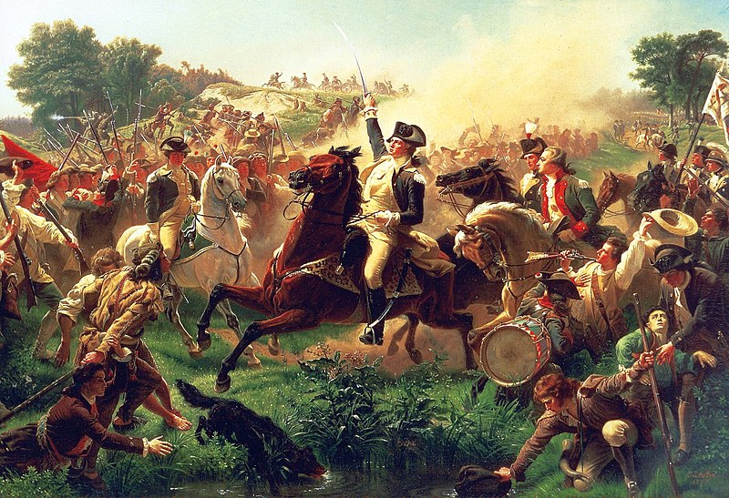 Washington Rallying the Troops at Monmouth - Emanuel Leutze