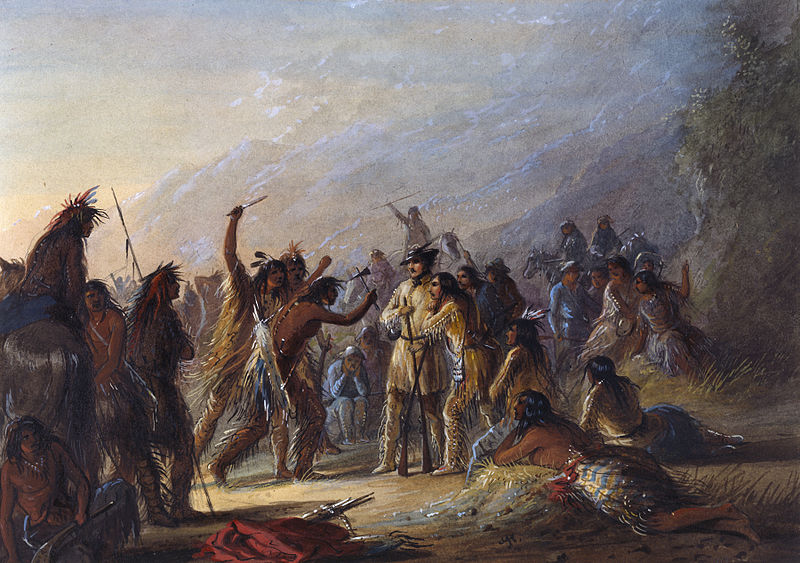 Attack by Crow Indians - Alfred Jacob Miller
