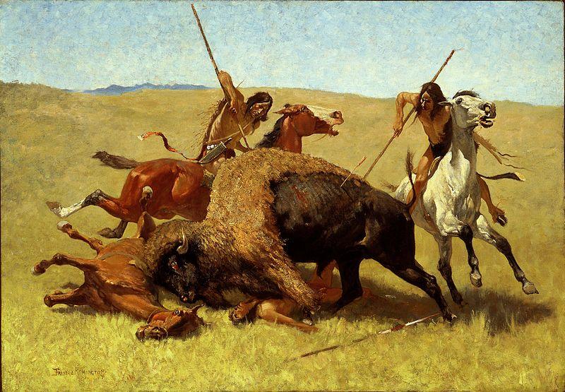 The Buffalo Hunt - Frederic Remington