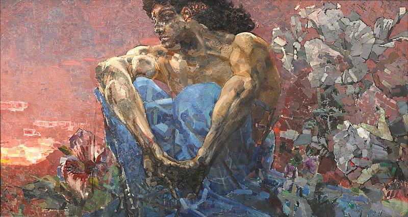The Demon Seated - Mikhail Vrubel