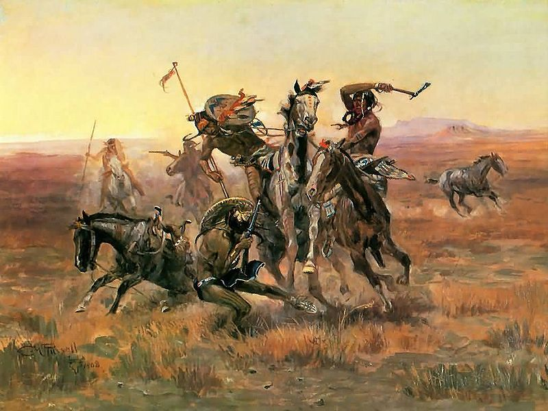 When Blackfoot And Sioux Meet - C.M Russell