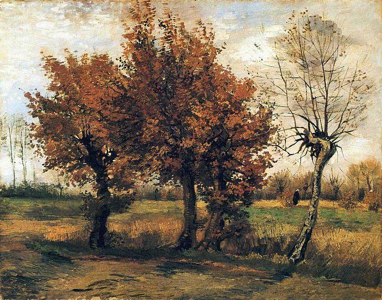 Autumn Landscape with Four Trees - Van Gogh