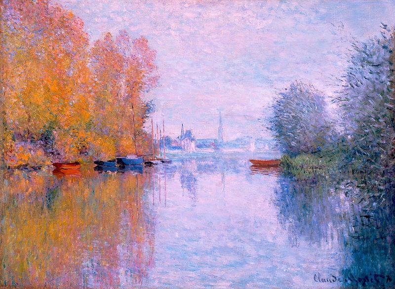 Autumn on the Seine at Argenteuil - Claude Monet